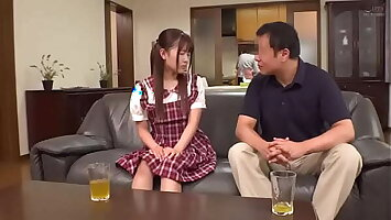 Petite Japanese Teen Convinces Reluctant Older Home Tutor To Fuck Her Hard